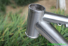 titanium tandem bike frame with couplers